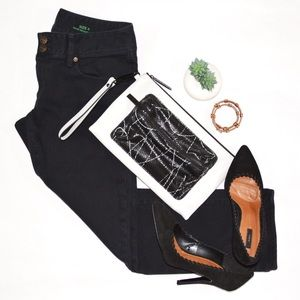 Lilly Pulitzer Worth Straight Cropped Black Jeans